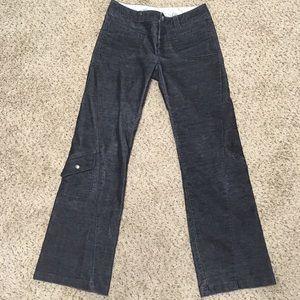 Athleta Black Corduroy Trouser Utility Pants 8